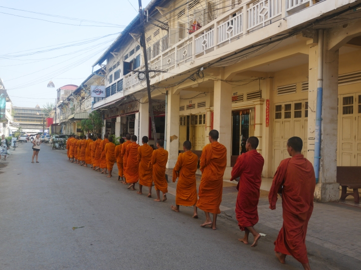 Buddhist monks in Battambang